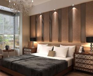 现代简约卧室背景墙装修布置效果图