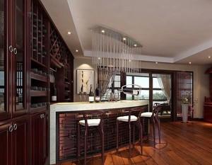 别墅中式酒柜装修设计效果图