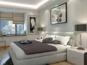 90平现代简约风格卧室背景墙装修效果图赏析
