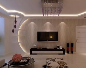 现代简约客厅吊顶装修设计效果图