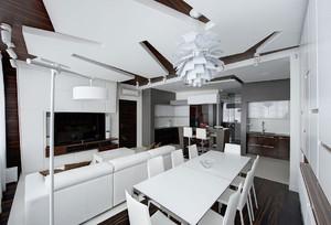 现代都市冷色调客厅装修
