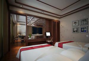 50平米中式宾馆装修效果图