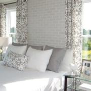 现代卧室窗帘装修效果图