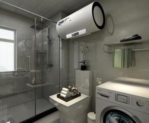 现代风格卫生间干湿分离效果图