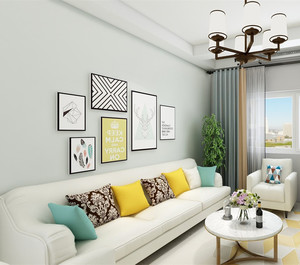 家庭客厅照片墙装修效果图赏析