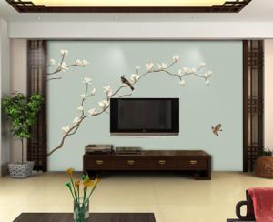 90平现代简约风格客厅电视背景墙装修效果图