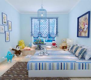 蓝色系儿童房装修效果图