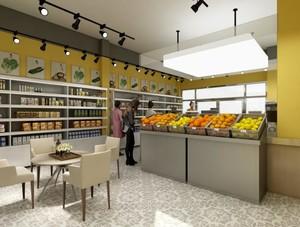 100平米现代风格水果店装修