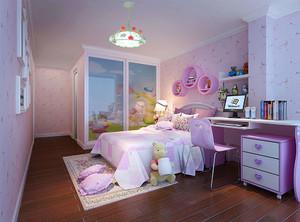 粉色儿童卧室装修设计图