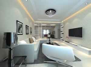 现代浅色系客厅装修效果图