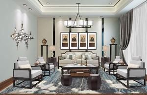 新中式客廳裝修效果圖賞析