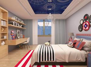 现代风格儿童卧室装修效果图