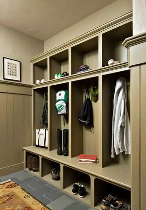 自然风格三居室鞋柜装修效果图