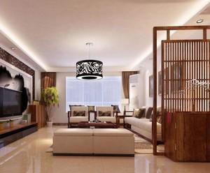 中式客厅隔断装修图片