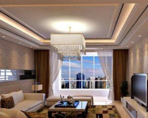 现代简约风格客厅吊顶装修效果图赏析