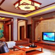 客厅中式局部80平米装修