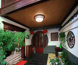 中式复式入户花园设计效果图