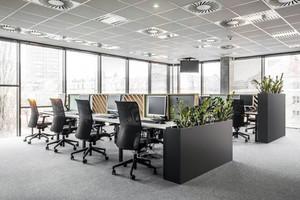 中大型企业员工办公室装修效果图