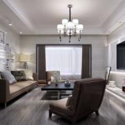 90平米现代简约客厅吊顶装修设计效果图