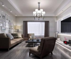 90平米現代簡約客廳吊頂裝修設計效果圖