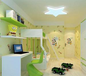 简欧风格靓丽儿童房装修图