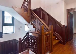 中式风格家庭楼梯装修效果图