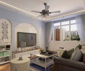 地中海风格客厅吊灯装修效果图赏析