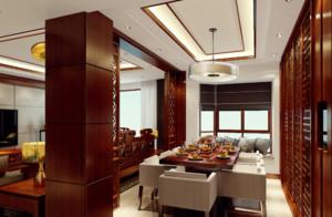 新中式风格餐厅装修设计图
