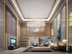 别墅复式客厅效果图
