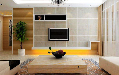 现代简约客厅电视背景墙效果图