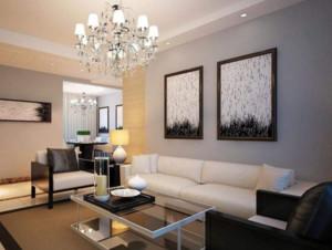 现代客厅沙发装修布置效果图