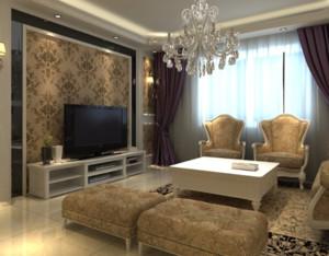 简欧风格客厅沙发装修效果图