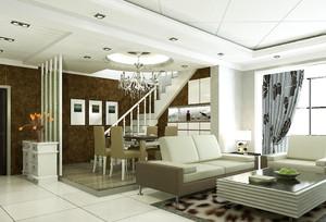 现代复式客厅装修效果图