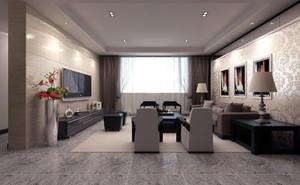 客厅现代简约装修效果图
