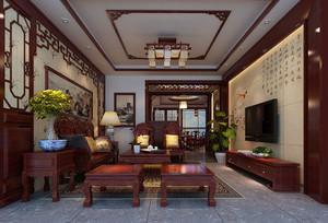 客厅装修效果图中式