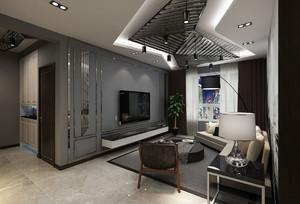 现代两居室黑白灰装修效果图