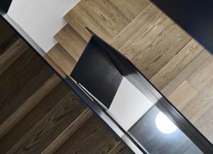 混搭风格复式家庭楼梯装修效果图