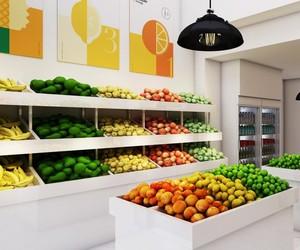 100平现代风格水果店装修