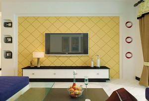 电视墙造型简单大方图