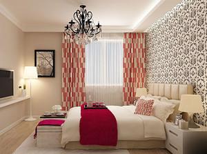 现代卧室飘窗设计效果图
