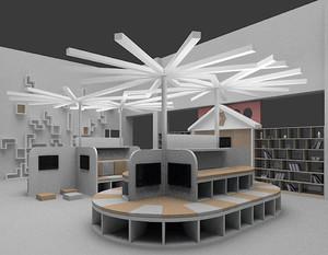 简约创意书店装修效果图
