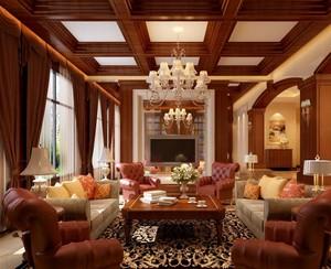 欧式风格别墅会客厅装修效果图
