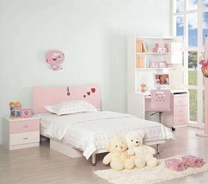 简约风格粉色系儿童房装修效果图