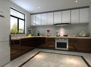 厨房L型橱柜装修效果图