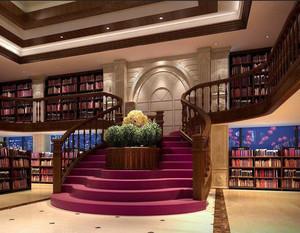 书店楼梯下空间改造效果图