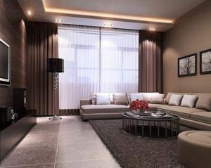 现代简约客厅窗帘装修效果图赏析