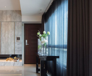 中式风格客厅窗帘装修设计效果图