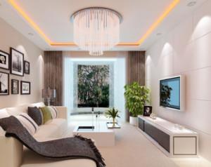 现代简约风格客厅窗帘装修效果图