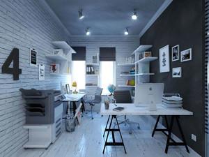 小型企业办公室装修效果图