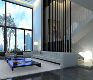 别墅楼梯隔断设计效果图